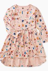 Tea Collection Floral Printed Wrap Dress