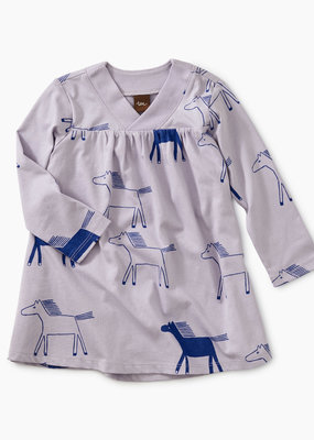 Tea Collection Highland Print Wrap Neck Baby Dress