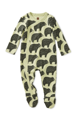 Tea Collection Cuddly Cubs Footed Romper