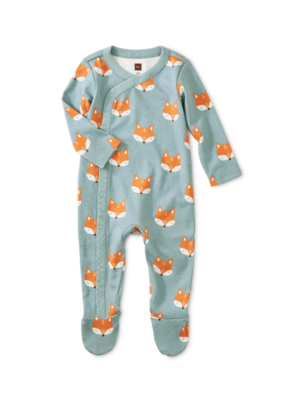 Tea Collection Foxes Footed Romper