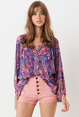 Spell and the Gypsy Collective Bianca Blouse Wisteria
