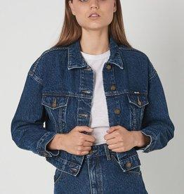 Rollas Slouch Crop Jacket Charlene Blue
