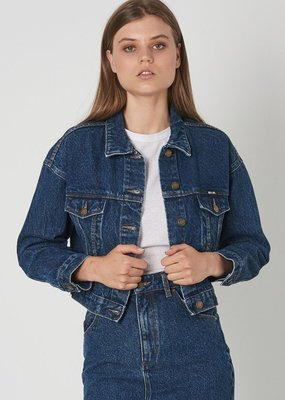 Rollas Slouch Crop Jacket Charlene Blue