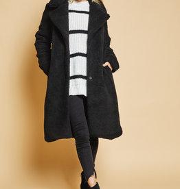 Sage the Label Cityscape Coat Black