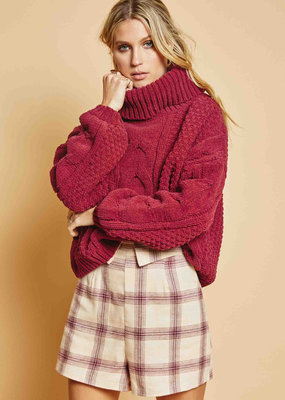 Sage the Label New Street Sweater Burgundy