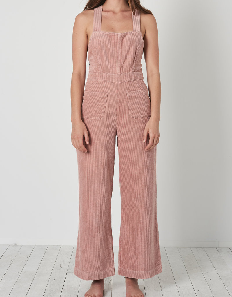 Rollas Admiral Cord Jumpsuit Dusty Pink