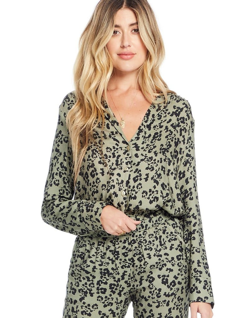 Saltwater Luxe Halo Blouse Olive Wildside