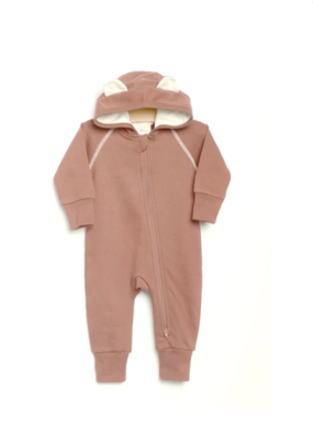 City Mouse Bear Hooded Romper