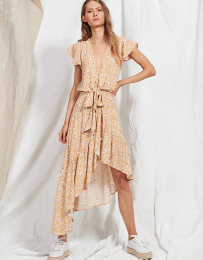 kivari Freya Tie Up Midi Dress