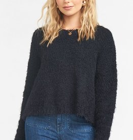 Show Me Your Mumu Cropped Varsity Sweater Black