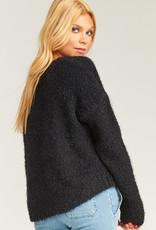 Show Me Your Mumu Cropped Varsity Sweater Black
