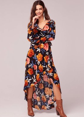 Band of Gypsies No Woman No Cry Black Floral Hi Lo Maxi Dress