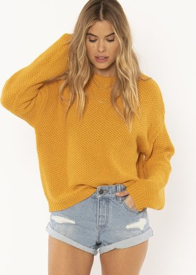 Amuse Society Amalia Sweater Gold