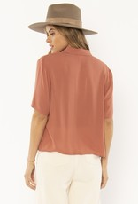 Amuse Society Allora Woven Blouse Terracota