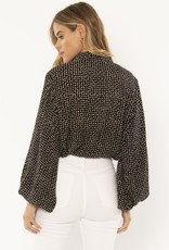 Amuse Society Camille Woven Blouse Black