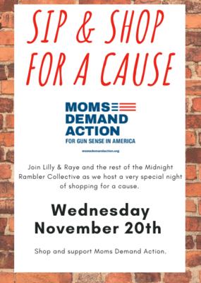 Nov. 20: Sip & Shop for a Cause - FREE event!
