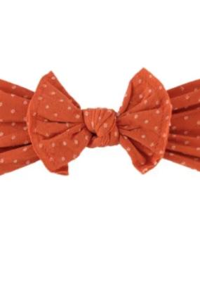 BRITTS. BOWS Pumpkin Dot Knot Headband