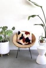 Norwegian Wood Colorblock Shag Faux Goat Hair Pillow Cover