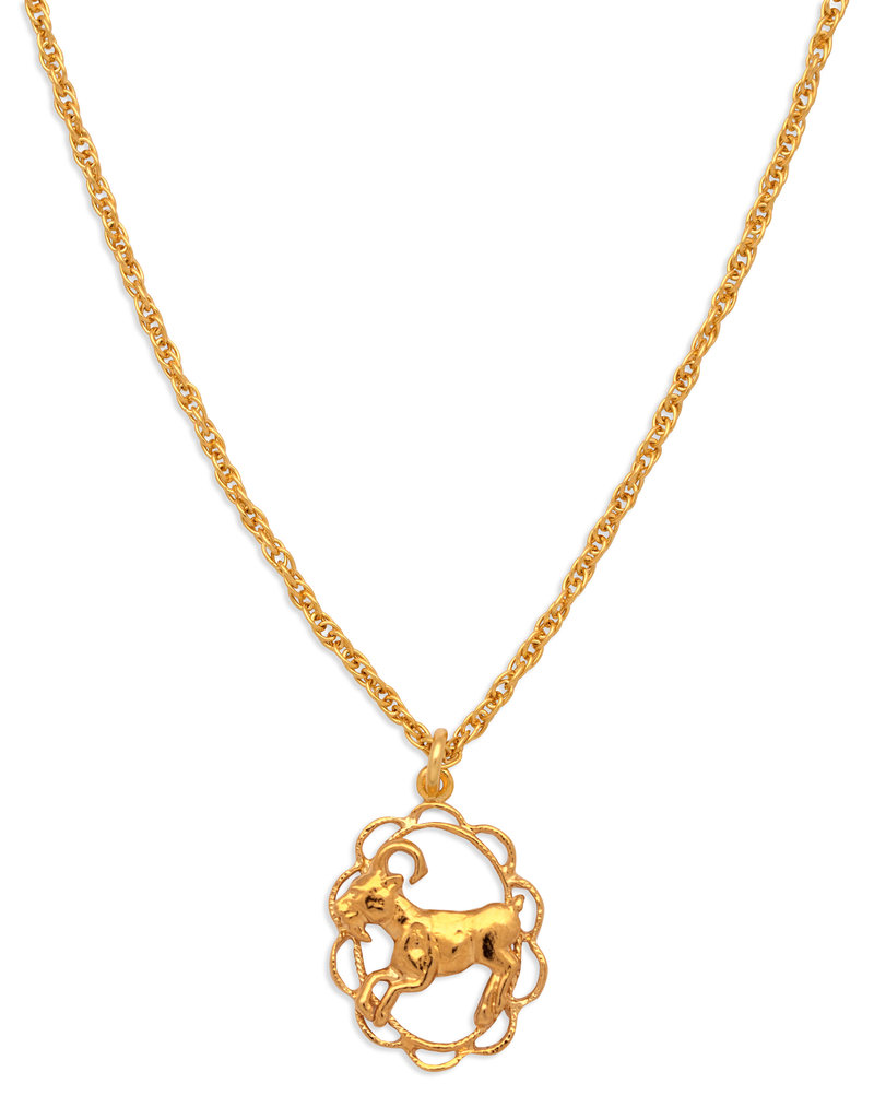 Hiouchi Jewels ZODIAC CHARM NECKLACE ~ ARIES