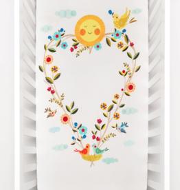 Rookie Humans Love Blooms Organic Crib Sheet