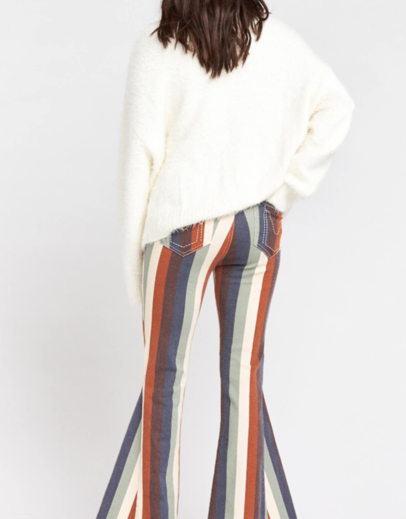 Show Me Your Mumu Berekley Zip Up Bells Retro Stripe