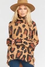 Show Me Your Mumu Fatima Turtleneck Sweater Cheetah Fever Knit