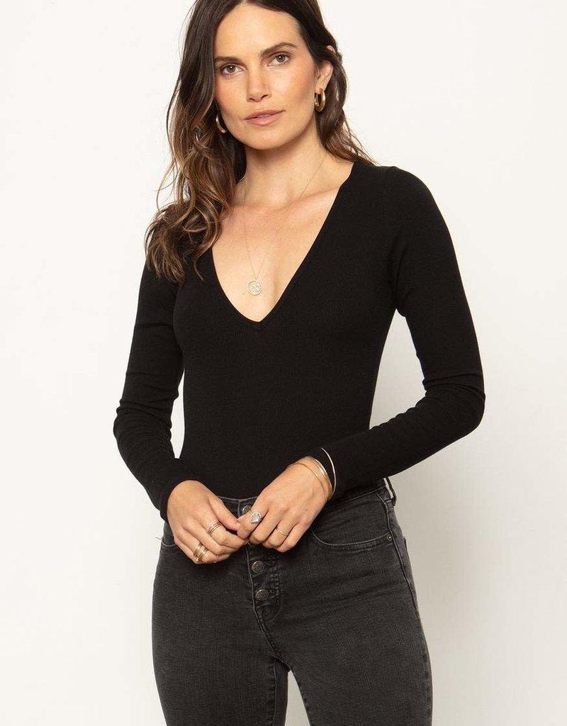 Stillwater LA V Neck Bodysuit Black