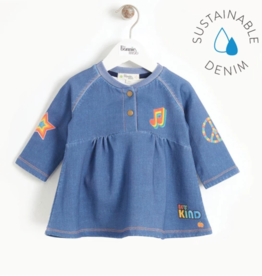Bonnie Mob Printed Denim Dress Kids