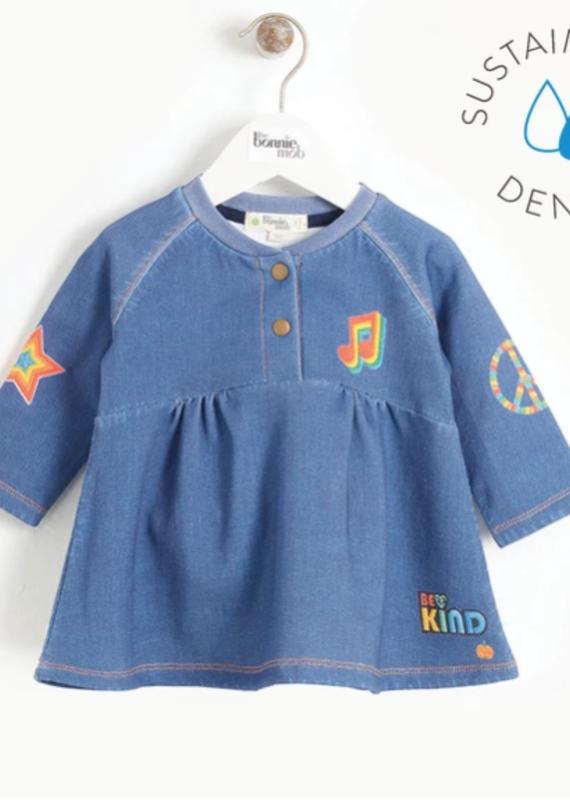 Bonnie Mob Printed Denim Dress Baby