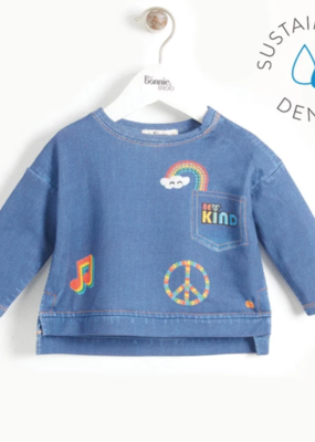 Bonnie Mob Printed Denim Sweatshirt Kids