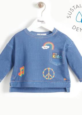 Bonnie Mob Printed Denim Sweatshirt Baby