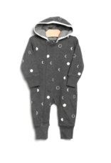 City Mouse Moon Phases Hooded Romper