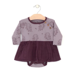 City Mouse Owl Skirted Bodysuit