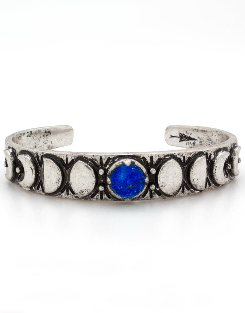 Hiouchi Jewels MOON PHASES CUFF BRACELET - Lapis