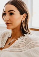 Hiouchi Jewels CRYSTAL POST EARRINGS - Silver