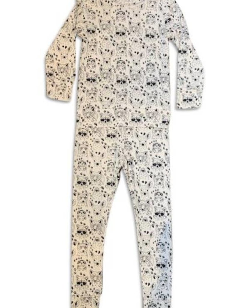 Bird & Bean Two Piece Pajama Set - Woodland
