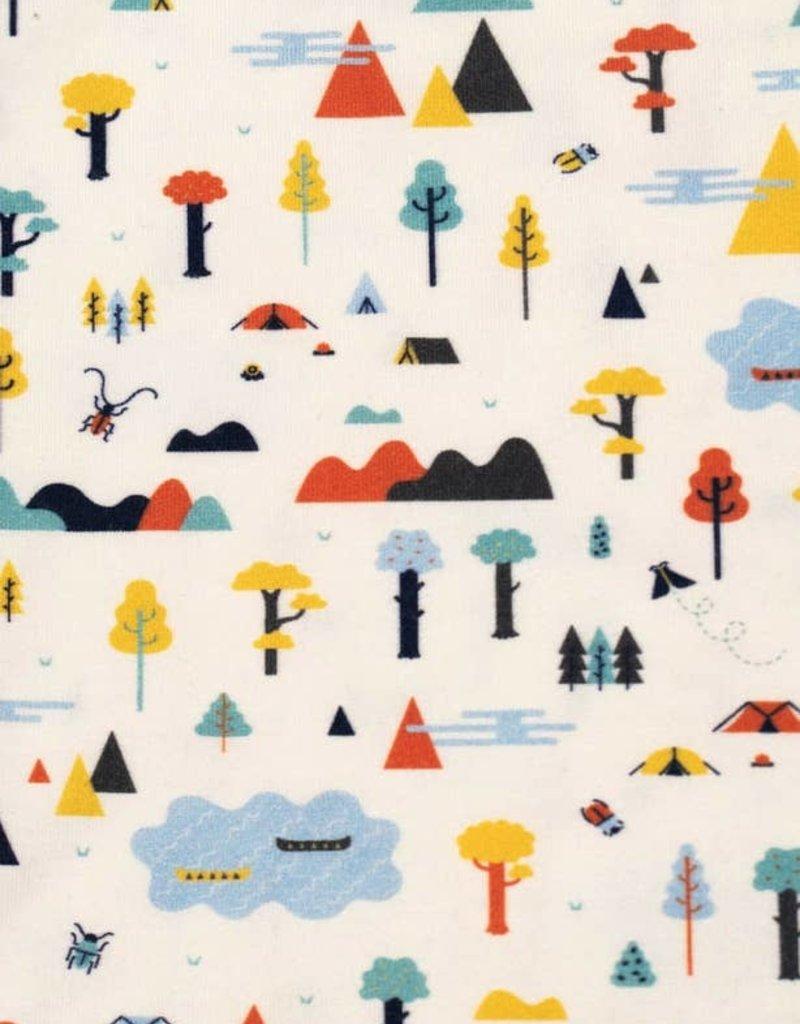 Bird & Bean Short Coverall - Happy Camper