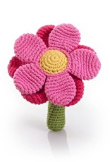 Pebble Flower Rattle Pink