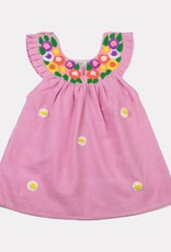 Akshu and Ing Pink Embroidered Daisy Dress