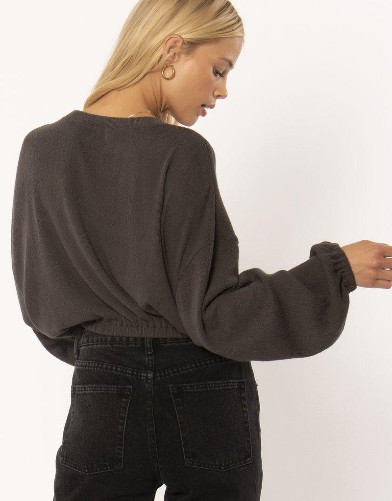 Amuse Society Melo Knit Fleece Top