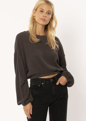 Amuse Society Melo Knit Fleece Top