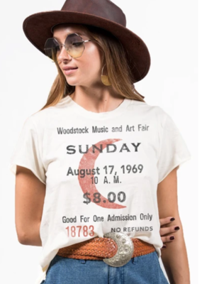 Mamie Ruth Woodstock Ticket Tee