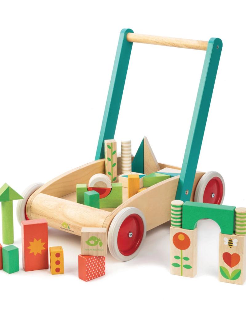 Tender Leaf Toys Wagon with Blocks