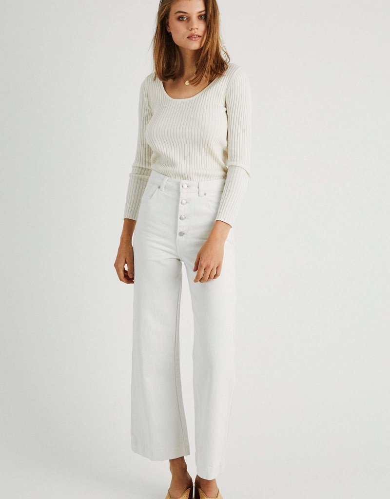 Rollas Classic Rib Sweater Off White