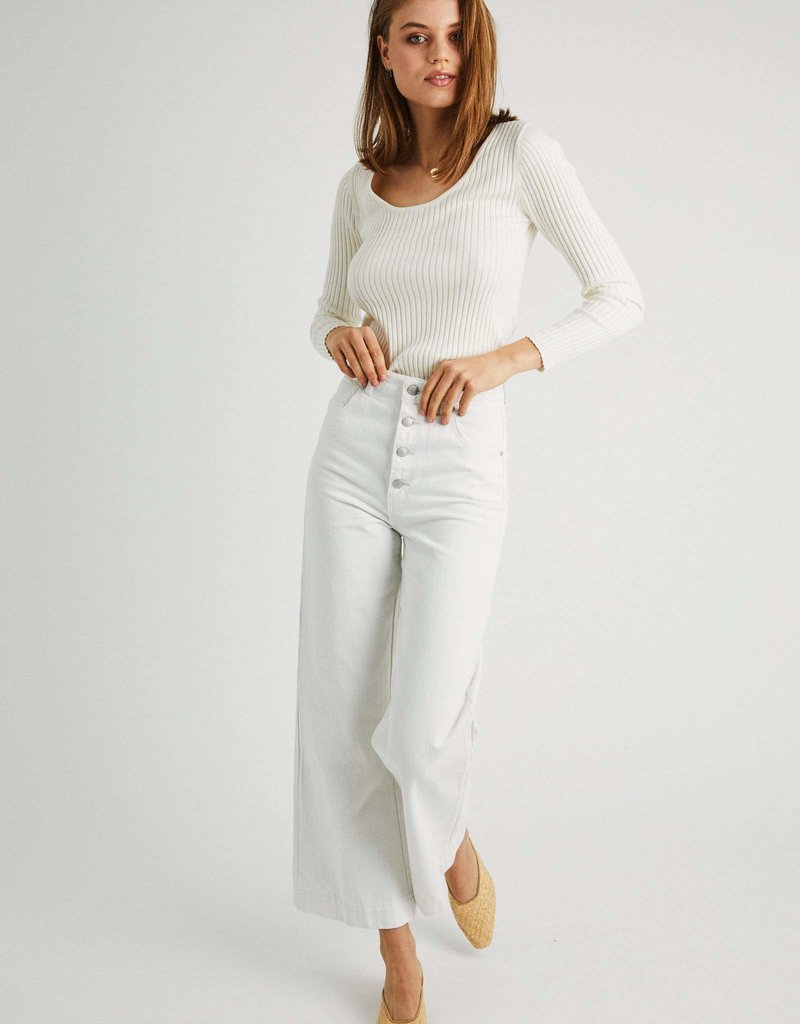Rollas Classic Rib Sweater Off White