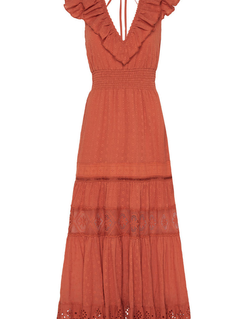Spell and the Gypsy Collective Daisy Chain Frill Maxi Copper