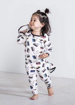 Peregrine Kidswear Cassettes 2-piece Bamboo Pajama Set