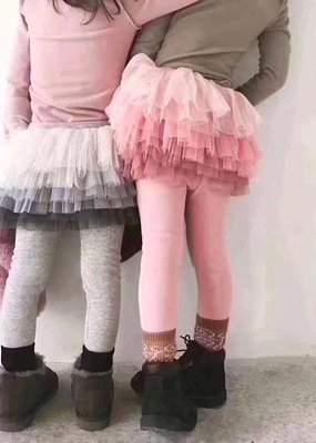 Tutu Joli Pink Cotton Leggings/Tutu Skirt