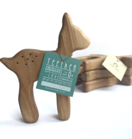 Clover and Birch Wood Deer Teether