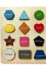 BeginAgain Basic Shape Sorter 12-Piece Puzzle